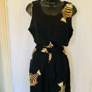 Vintage Sleeveless Shirt and Short Set, NWOT